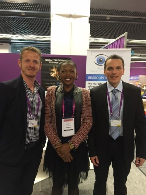 De droite à gauche : Mr APTEL Florent (Président de l'AFG), Rokia COULIBALY (Assistante AFG), Thibaut FOURTEAU (Responsable du pôle santé à l'Unadev).