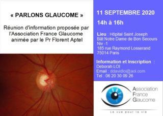 image conférence parlons glaucome information et inscription
